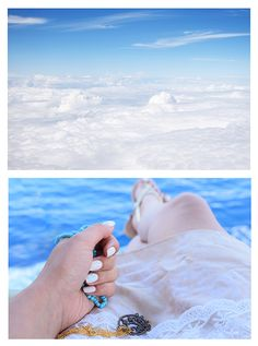 #summer #sea #bluesky #nails