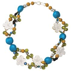Blue-and-Yellow Necklace | SouthernLiving.com