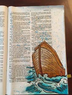 Journaling about Noah in Genesis, #journalingBible #illustratedfaith