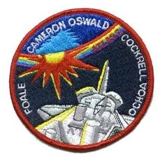 STS56 Mission Patch. 54th Space Shuttle Mission.16th Flight of Discovery. The primary payload for the mission was the Atmospheric Laboratory for Applications and Science-2 (ATLAS-2), designed to collect data on the relationship between the sun's energy output and Earth's middle atmosphere, focusing on effects to the ozone layer.