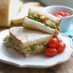 "Chickpea & Avocado ""Egg"" Salad. It has the taste and texture of the real thing, without the need for eggs or mayo. So delicious!"
