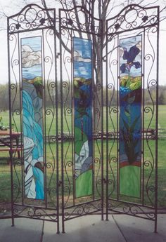 Custom stained glass windows - a unique application. It would be wonderful to have favourite photos represented this way...