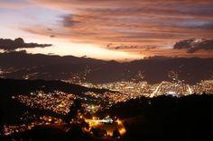 Atardecer en Medellin, Colombia.