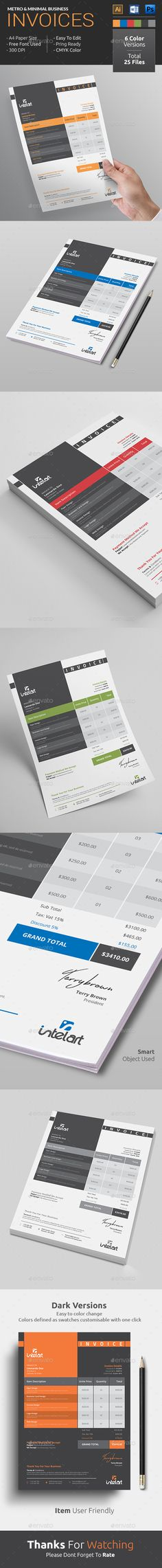 Flat Modern but Stylish Invoice Template available
