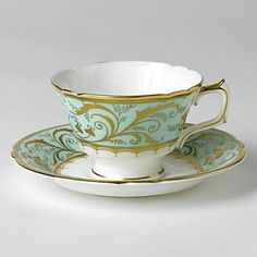 Darley Abbey captures the regency style of restrained simplicity using delicate lines and intricate curves representing twirling foliate and filigree leaves. The carefully placed ornamental elements c