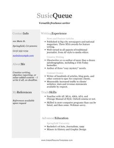 Writer Resume Image Result For Freelance Writer Resume  Resumes And Cvs  Pinterest