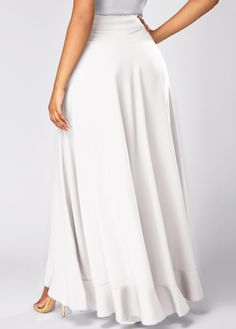 Overlay Embellished Zipper Side Tie Waist White Pants on sale only US$31.58 now, buy cheap Overlay Embellished Zipper Side Tie Waist White Pants at liligal.com