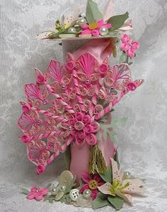 Quilled Fan- one of these days I will do a large project like this. Beautiful!