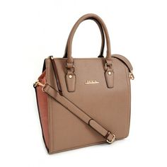 Camel tote handbag with pink croco sides made of pu leather, with detachable and adjustable shoulder strap and double top handles Pink Handbags, Tote Handbags, Winter Collection, Pu Leather, Camel, Shoulder Strap, Top, Fashion, Crocheted Purses