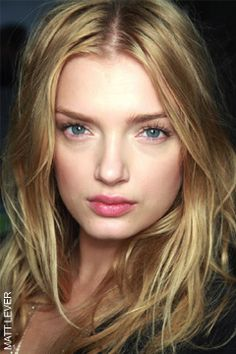 Messy but gorgeous hair -Lily Donaldson