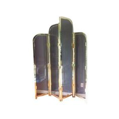 Brass & Smoked Glass Room Divider (€1.800) ❤ liked on Polyvore featuring home, home decor, panel screens, room dividers, brass home decor, folding room dividers, brass home accessories, folding screen and brass screens