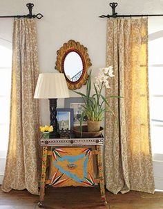 Kathy M. Ireland - hardware. window treatment fixtures. Reese Witherspoon Ojai Residence