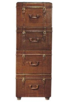 Leather Suitcase File Cabinets | Decorating, Storage and Drawers