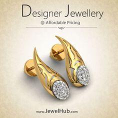 #Diamond #Jewelry #jewellery #Gold #Jewelhub #DiamondEarring #Gift #DesignerJewellery #Certifieddiamond ~ http://www.jewelhub.com/er.html