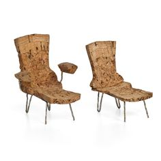 Erikck Moreau created 2 chairs with ottomans. Perhaps inspired by the Wing Chair and Ottoman, we loved this duo.