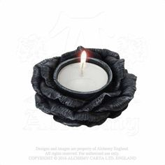 Black Rose T-Light Holder