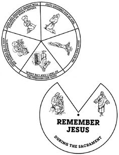What Jesus did for me sacrament wheel