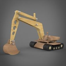 Here is model of wooden toy jcb machine Woodworking Guide, Woodworking Skills, Woodworking Videos, Custom Woodworking, Woodworking Projects Plans, Toys For Boys, Kids Toys, Making Wooden Toys, 3d Modelle