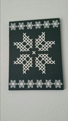Sneeuwvlok van tegelkruisjes