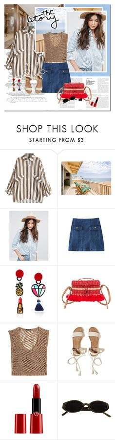 """""""The story"""" by undici ❤ liked on Polyvore featuring French Connection, Nannacay, DAMIR DOMA, Hollister Co. and Giorgio Armani"""