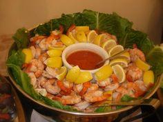 shrimp catering set up | Silverspoon Catering - Atlanta, GA