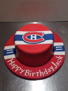 Montreal Canadians cake 40th Cake, 60th Birthday Cakes, Birthday Cup, Hockey Birthday, Hockey Party, Montreal Canadiens, Cake Cookies, Cupcake Cakes, Cupcakes