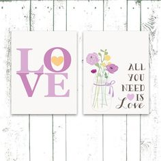 Hey, I found this really awesome Etsy listing at https://www.etsy.com/listing/162667787/nursery-art-prints-all-you-need-is-love