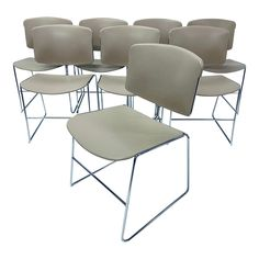Chrome Steelcase Dining or Office Chairs, 1940 - Set of 8 | Chairish