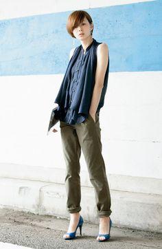 Fashion collection[ファッションコレクション]|ブルー ブラック プラネット 2-WAYスタイルがたのしめる ほの甘ポンチョライクブラウスの会|フェリシモ