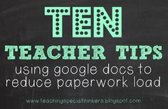 10 ways to use Google Docs to collect and store data!