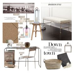 """""""Office Suite"""" by rever-de-paris ❤ liked on Polyvore featuring interior, interiors, interior design, home, home decor, interior decorating, French Connection, Nomess, Sonneman and NOVICA"""