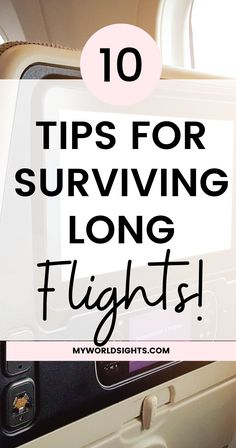 Long flights are tough, but if you know these travel tips, you'll be able to survive long flights like a pro! Learn the tricks to sleeping on a plane, carry on items, and other tips for long flights!