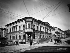 Fabianinkadun ja Aleksanterinkadun risteys. Foto: Signe Brander, 1909.
