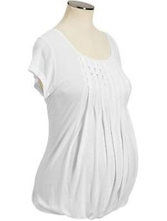 Maternity Pleated Jersey Top #OldNavy. Bought it, loved it. Flattering, comfortable, dressed up or down.