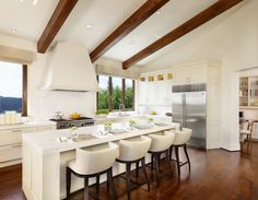This elegant white kitchen was completed by JEI Design. #luxeAustin