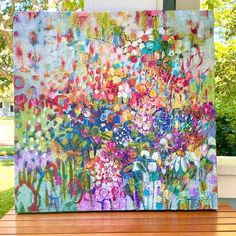 Abstract Flowers, Pathways, Sunshine, Good Things, Trifles, Acrylics, Artist, Florals, Painting