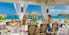 Beaches Turks and Caicos - 18 restaurants, many beach front dining options