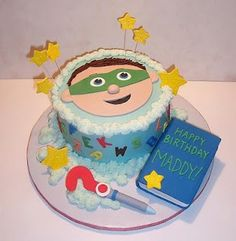 Super Why Cake-There you go Tiph and maybe orange frosting? So it is orange and super why heeheehe