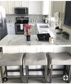 6 Impressive Clever Hacks: Bedroom Remodel Before And After master bedroom remodel farmhouse style.Bedroom Remodel Diy Small small bedroom remodel the doors. Kitchen On A Budget, Kitchen Redo, New Kitchen, Small Condo Kitchen, Kitchen Ideas, Condo Kitchen Remodel, Kitchen Upgrades, Deco Design, Updated Kitchen
