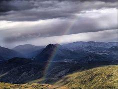 Arco Iris. Foto tomada desde el Castellet d'Aixa en Alcalalí. Autor: Pascual Roselló.