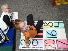 Teen number twister, could also make this into a sight word twister. Perfect for Kindergarten Numbers Kindergarten, Preschool Math, Math Classroom, Kindergarten Activities, Teaching Math, Teaching Ideas, Maths Eyfs, Classroom Ideas, Teen Numbers