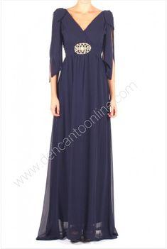 Vestido largo detalle cinturon www.dencantoonline.com Dresses, Fashion, Long Gowns, Store, Wedding, Vestidos, Moda, Fashion Styles, Dress