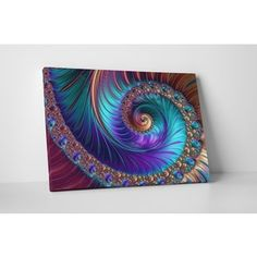 Shop for 'Peacock-esk Spiral' Gallery-wrapped Abstract Canvas Wall Art. Get free delivery at Overstock - Your Online Art Gallery Store! Get in rewards with Club O! Peacock Wall Art, Peacock Decor, Floral Wall Art, Peacock Bedroom, Peacock Bedding, Abstract Canvas Wall Art, Wall Canvas, Canvas Art Prints, Ink Gallery