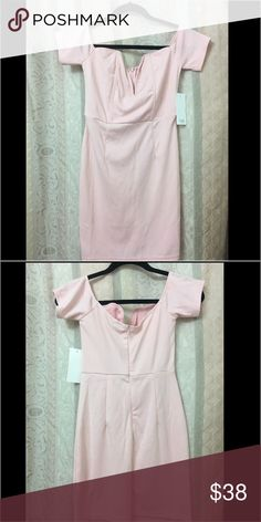 Tobi off the shoulder Pink dress Tobi off the shoulder Pink dress.  Adorable dress for spring and a young petite young lady.  Shade of pink is a little darker than a pastel pink. Tobi Dresses Mini