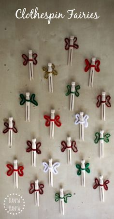 Simple wooden clothespin fairy dolls for a cute pretend play prompt for fairy party favour idea. Affordable and easy to make.