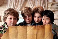 """Chunk, Mikey, Mouth, and Data.  Goonies  """"I smell Ice Cream...!"""""""