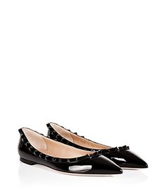 Channel urban elegance in these rockstud-laden patent flats from Valentino #Stylebop