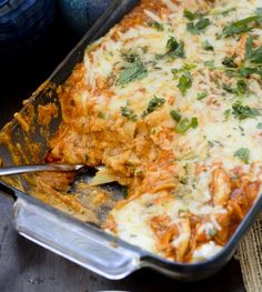 Weight Watchers Recipes | Buffalo Chicken Lasagna - Recipe Diaries - 9pp+