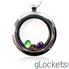 What's a gllocket? A glass locket that displays birthstone charms.