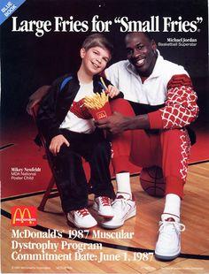 1987 - Michael Jordan's MDA McDonald's ad #MichaelNeufeldt